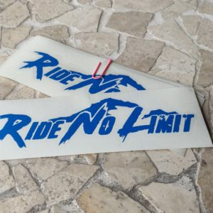 Stickers RIDE NO LIMIT couleur