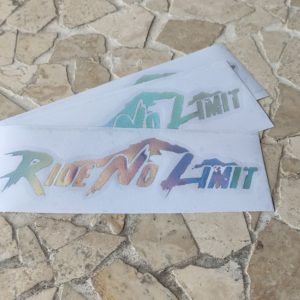 Stickers RIDE NO LIMIT Holographique